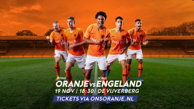Jong Oranje oefent op 19 november in Doetinchem tegen Engeland