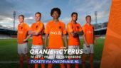 Jong Oranje komt op 10 september naar De Vijverberg, selectie is bekend