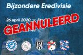 Competitieronde Bijzondere Eredivisie 26 april op De Vijverberg geannuleerd