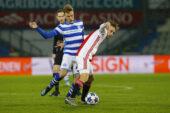 De Graafschap speelt met tien man gelijk tegen Jong Ajax