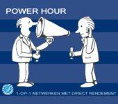 Power Hour: Speeddaten voor sponsoren op woensdag 7 november a.s.
