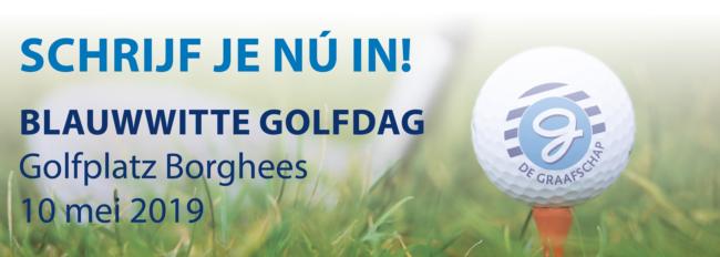 Vrijdag 10 mei: de Blauwwitte Golfdag, nu ook weer met een 9 holes-wedstrijd