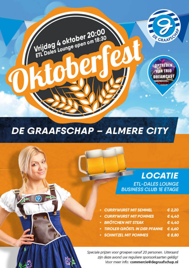 Oktoberfest tijdens De Graafschap - Almere City