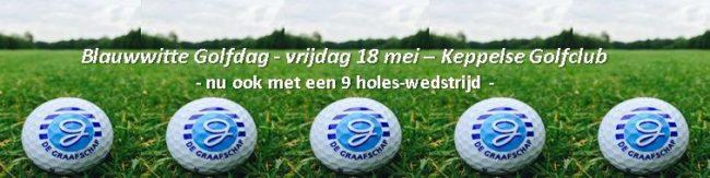 Vrijdag 18 mei: de Blauwwitte Golfdag, nu ook met een 9 holes-wedstrijd