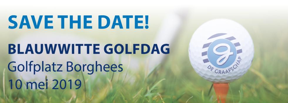 Noteer alvast in uw agenda Blauwwitte Golfdag – 10 mei – Golfplatz Borghees