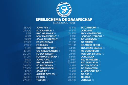 Definitief speelschema De Graafschap seizoen 2017-2018